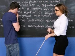 Bad teacher seduces him with a deluxe titjob