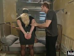 Two MILFS get dominated by their man