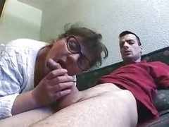 Granny Real bbw with glasses well fucked