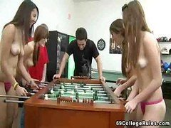 Sexy College College chicks Playing Games