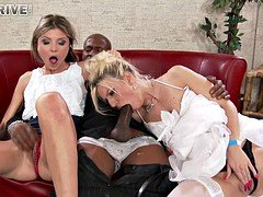 Bride And plus Her Friend Share Sizeable Black Knob