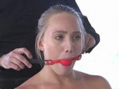 Blonde slave wife gets gangbang and dp