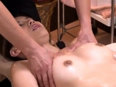 Japanese hoe blowing off on a hairy asian cock