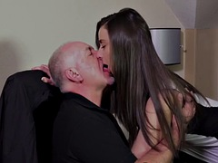 old office manager fucks fresh young secretary