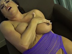 pandora slaps sucks and strokes her tits and fingers
