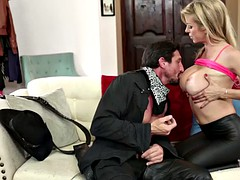 cowboy fucks leather leggings milf