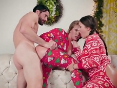 Brazzers - Sizeable Dripping wet Booty's -  Anal Xmas episode starring Allie H