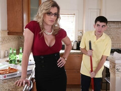Extremely hot big-tit MILF Cory Chase bangs with a young man