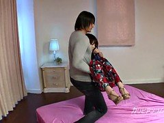 pretty asiatic ex lady friend Megumi got Tied up and besides eyes cover