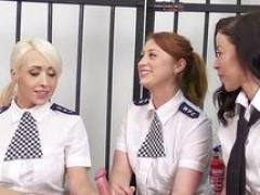 Cfnm female cops suck cock