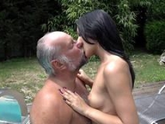 Smalltitted girl banged by oldman