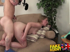 Midget cons sizzling blondie into doing xxx porno audition