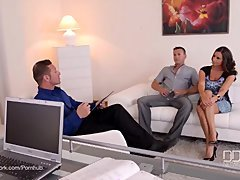 3-way Therapy - Big-breasted Goddess Sensual Jane Fucked By Doctor And additionally Husband