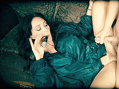 Cigar sucking Fake Tit cougar Charlee haunt