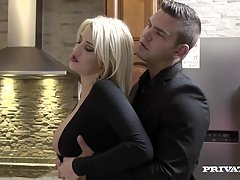 Aroused Housewife Sienna Day Fucks A duo Lads In the Kitchen