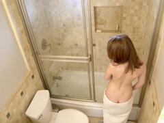 Lily Moon step sister filmed in the shower