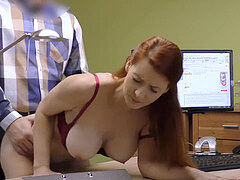 LOAN4K. buxom red-haired pays with bang-out for development of her business