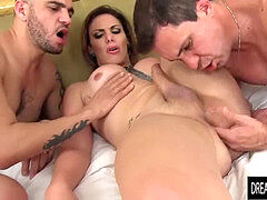 gigantic backside Tgirl Kananda Hickman Trades ass-fuck Sex and Blowjobs with Two Guys