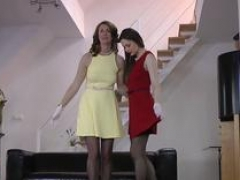 Sexually available mom brit licks glam gal
