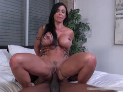 Guy Watches His Very Busty Stepmom Goes Black