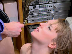 Pretty shoplifter Cleo Clementine getting punished by officer