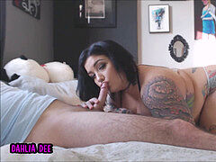 Tattooed plus-size gets humped rock-hard and Creampied