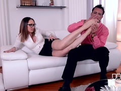 Tootsie Reflections - Foot Fetish Lover Bangs Milf In Office