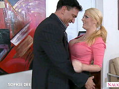 astounding Sophie Dee nailing in the office
