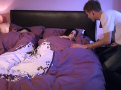Amber Nevada sucks & fucks her bff's brother & gets cummed while she sleeps