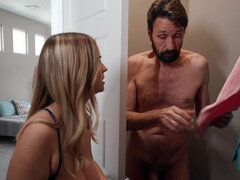 Busty stepdaughter Codi Vore has an affair with her mature stepdad