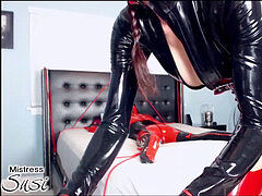 domme with her rubber nymph