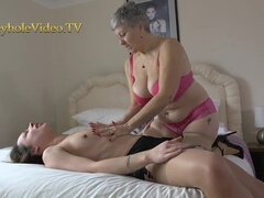 Naughty mature lesbians play sexual games