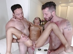 ExxxtraSmall - Nice-looking Petite Teen Fucked By Two Sizeable Cocks