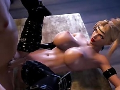 Sizeable titties 3D blonde gal fucked in this compilation